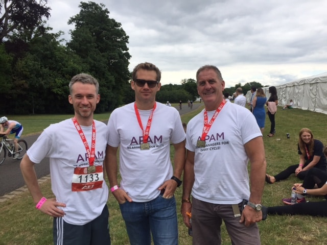 JLL Property Triathlon team
